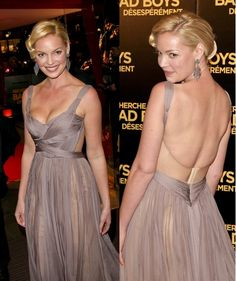 Katherine Heigl in a Maria Lucia Hohan dress at One for the Money Paris premiere