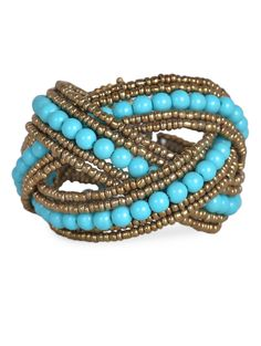 Beaded Cuff Bracelet Bracelets Design Trends Ping Turquoise Beads