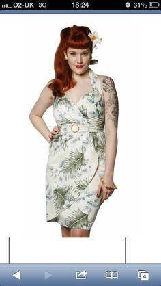 50s tiki sarong dress