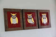 love this blog: shanty 2 chic.  she painted her own owls. she makes everything look so easy in her step by step photos.