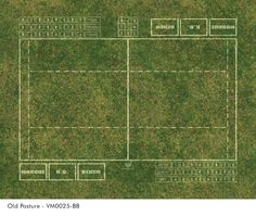 Fantasy Football Blood Bowl Pitch Mat Old Pasture
