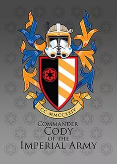 Coat of Arms  0028- Commander Cody  Continuing on our Comic Coat of Arm (COA) series we have created the arms of Commander Cody. Now being that this is my son'