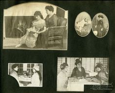 The following scrapbook from the Mary Pickford Foundation collection was hand-made by a fan and covers the years 1916 through 1919. Each page is filled with cutout magazine images of Mary Pickford and her family and friends, including Charlie Chaplin and Douglas Fairbanks. Look closely and you will also see Marshall Neilan, William S. Hart, …