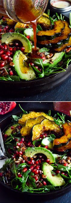 Autumn Arugula Salad. The prettiest plate for your Thanksgiving table! by @howsweeteats I howsweeteats.com