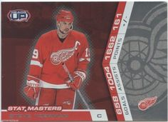 2002-03 Pacific Steve Yzerman #9 Heads up Stat Masters