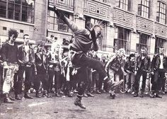 punk rocker street dancing