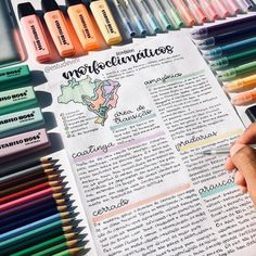 some very colorful notes by comment below the first thing on your monday afternoon todo list. Cute Notes, Pretty Notes, Good Notes, Beautiful Notes, Beautiful Pictures, School Organization Notes, Study Organization, Bullet Journal Notes, Bullet Journal School