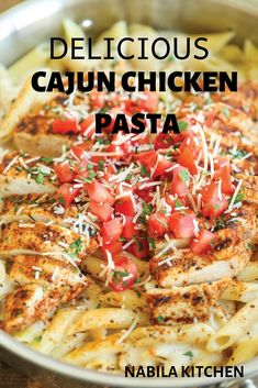 Lower Excess Fat Rooster Recipes That Basically Prime Delicious Cajun Chicken Pasta Nabila Kitchen Pastas Recipes, Pasta Dinner Recipes, Chicken Pasta Recipes, Cajun Recipes, Italian Recipes, Healthy Recipes, Chilis Cajun Chicken Pasta, Recipe For Cajun Pasta, Cajin Chicken Pasta
