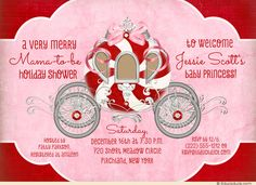 baby+shower+ideas+for+girls | Fairytale Holiday Baby Shower Invitation - Merry Peppermint Mama ...