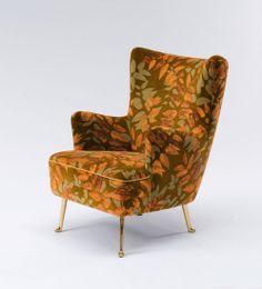 Josef Hillerbrand; Brass-Legged Armchair for Deutsche Werkstaetten, 1957.