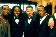 Pin for Later: Always a Bridesmaid: The Best Onscreen Wedding Parties The Best Man Julian (Harold Perrineau), Quentin (Terrence Howard), and Harper (Taye Diggs) are the best men in Lance's (Morris Chestnut) wedding.