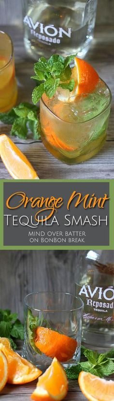 This Orange Mint Tequila Cocktail is zesty and just bursting with brightness. It… This Orange Mint Tequila Cocktail is zesty and just bursting with brightness. It's like your own personal sun, if your sun had a fuzzy warm tequila center. Tequila Drinks, Bar Drinks, Cocktail Drinks, Cocktail Recipes, Beverages, Alcoholic Drinks With Mint, Tequilla Cocktails, Cocktail Tequila, Mixed Drinks