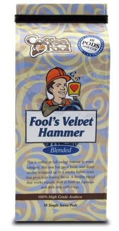 Coffee Fools Velvet Hammer Pods  18 Single Serve  Dark Roast ** See this great product.