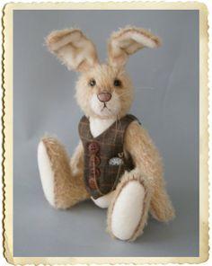 Stanley mohair hare van AnnaHooArtistBears op Etsy, €275.00