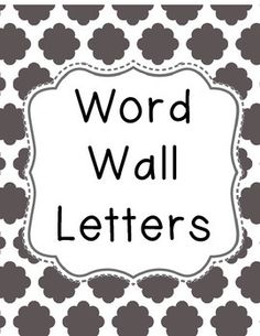 Cloud Quatrefoil Word Wall Letters Classroom Word Wall, Word Wall Letters, Quatrefoil, Sight Words, Teacher Resources, Vocabulary, Clouds, Lettering, Prints