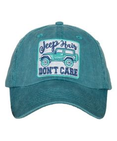 98f79af775a8c Teal   Mint  Jeep Hair Don t Care  Baseball Cap