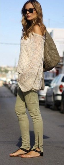San Francisco; my go-to look...skinny cargos, sandals, slouchy top ♥
