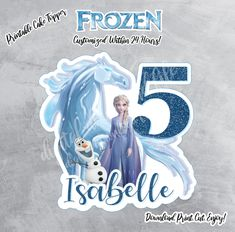 Printable Frozen 2 Cake Topper,Frozen 2, Queen Elsa, Frozen 2 Cake, Digital Download, Frozen Digital Print, Frozen 2, Water Spirit, Style 2 by ThistlePartyDesigns on Etsy Cars Birthday Invitations, Custom Birthday Cakes, Birthday Cake Toppers, Frozen Birthday, Boy Birthday, Etch A Sketch, Frozen Cake Topper, Toy Story Party, Queen Elsa