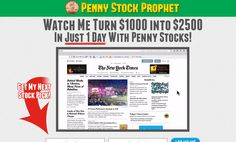 PENNY STOCK PROPHET - Watch Me Turn $1000 into $2500 In Just 1 Day With Penny Stocks!