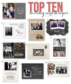 Top 10 Holiday Card Templates from Jamie Schultz Designs