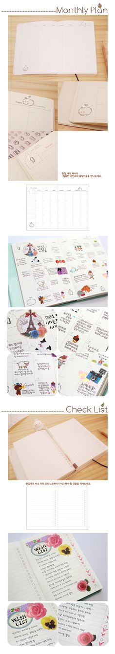 Cute Korean Molang Diary~  Just Love IT! @.@