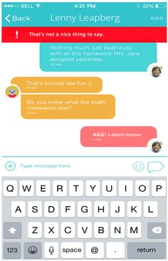 Play Messenger - kids can send text, photo and voice messages to people approved by adults on their contact list.  All child accounts are linked to an adult account, and the adults can manage the settings, monitor activity, view the chat history, and determine which users the child's account is connected to.