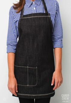 Introducing the Mini bib - the latest addition to the Harvest denim apron family. More at http://cargocrew.com.au