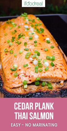 Cedar Plank Salmon - Learn THE BEST way to grill salmon that will blow everyones mind! Yup, I m that confident! Healthy Grilling, Grilling Recipes, Fish Recipes, Seafood Recipes, Cooking Recipes, Thai Cooking, Healthy Eats, Healthy Foods, Cooking Tips