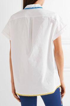 Mira Mikati - Embroidered Cotton-poplin Shirt - White - FR