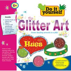 BPI GLITTER ART- Do It Yourself Kit for Kids Age 6+ . Learn Glitter Art. Includes Activity Book, Colours & Paint Brush, accessories for decoration, colour glitter, glue tube. A whole time fun play and creation game for kids.