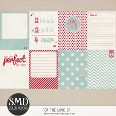 Free For the love of... Journal Cards from Stolen Moments Designs {part of the February DigiScrap on Facebook}