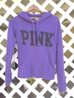 PINK Victoria's Secret Purple Hoodie Juniors Size XS Pullover Style Front Pocket #VictoriasSecret #Hoodie Sold