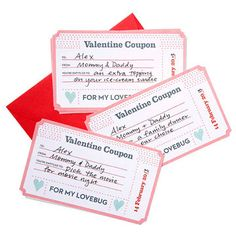 Download and print these FREE coupons and jot down an experience you both can share to give your valentine what he or she really wants this year! http://www.parents.com/holiday/valentines-day/printables/free-valentine-printables/?socsrc=pmmpin130125HnCSweetCoupons#page=3
