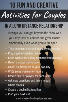 Fun things for couples to do even while they're far apart.