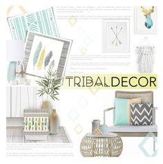 """Modern Tribal Decor"" by kearalachelle ❤ liked on Polyvore featuring interior, interiors, interior design, home, home decor, interior decorating, modern and tribaldecor"