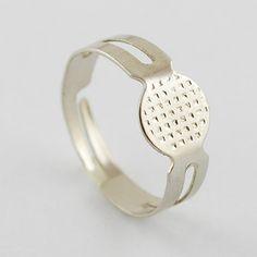 10 Stück verstellbare silberne Fingerringe,Rohling von Nickys Materialshop auf DaWanda.com