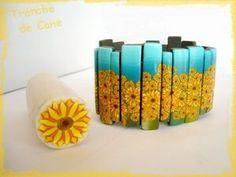 Sunflower Cane Tutorial in French.  #Polymer #Clay #Tutorials
