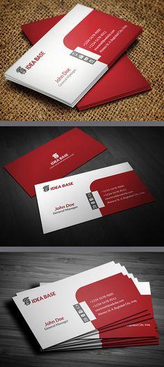 Corporate Business Card Template #businesscards #businesscardsdesign #businesscardtemplates