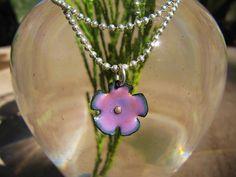 Tiny Foxglove Spring Flower Enamel Jewelry Pendant by Gasquetgirl