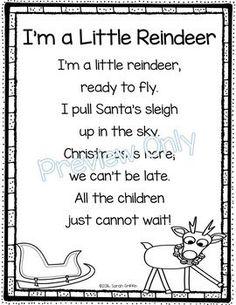 I'm a Little Reindeer - Christmas Poem for Kids