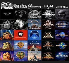Evolution of movie studio logos.