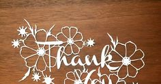 Scherenschnitte: Template Tuesday - Thank You!