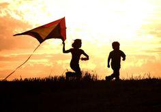 """ღ """"I see children as kites. You spend a lifetime trying to get them off the ground. You run with them until you're both breathless. They crash...you add a longer tail...you patch and comfort, adjust and teach. You watch them lifted by the wind and assure them that someday they'll fly."""" ― Erma Bombeck"""