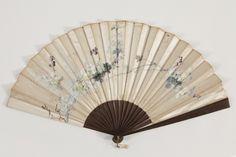 """1880-1900 """"Parakeet"""" Fan, Spain Antique Fans, Parakeet, Hand Fan, Spain, Home Appliances, Beige, Antiques, House Appliances, Antiquities"""