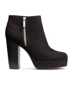 25e5f291bad75a Ankle boots in imitation suede with a small platform and side zip. Front