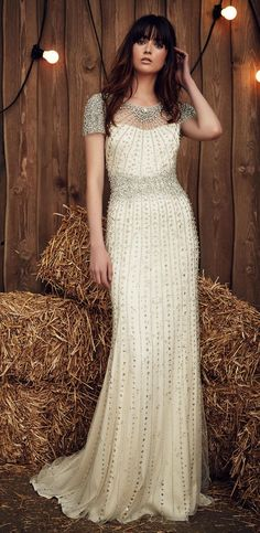 Jenny Packham Spring 2017 | https://www.theknot.com/content/jenny-packham-wedding-dresses-bridal-fashion-week-spring-2017