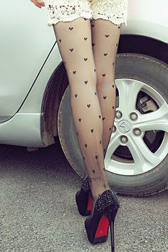 Black Hearts Tights
