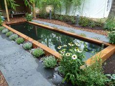 2. Vijverrand Garden Pond Design, Pond Filters, Corten Steel, Go Outside, Water Features, Garden Bridge, Garden Inspiration, Outdoor Spaces, Reflection Pool