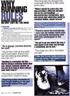 Why running rules. Love these quotes from runners.