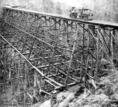 804 1/2 ft. long; 204 ft. high, Trestle at Robinson's camp, Clallam County, Washington,